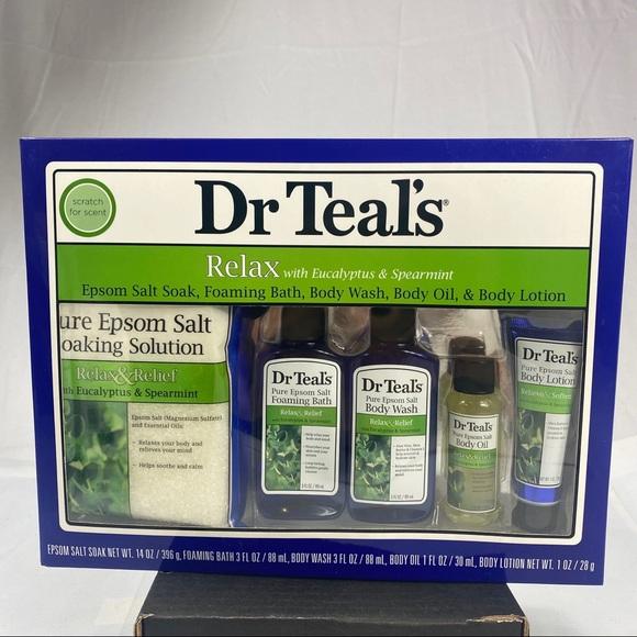 Dr Teal's Eucalyptus Epsom Salt Body Gift Set NEW